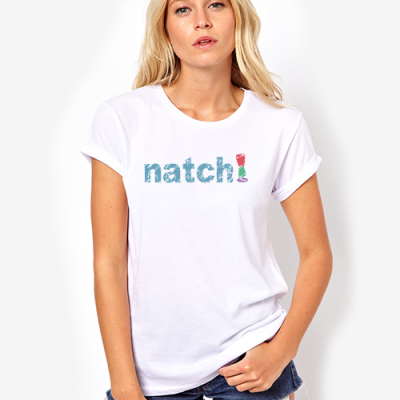 natch weight loss shop product t-shirt white