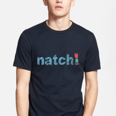 natch weight loss shop product t-shirt gray